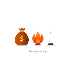 Money loss burn budget finance plan investment vector
