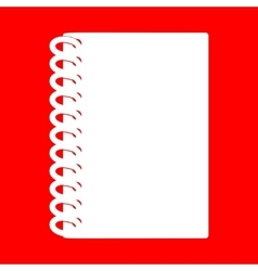 Notebook simple sign vector image vector image