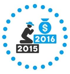 Pray for money 2016 icon vector