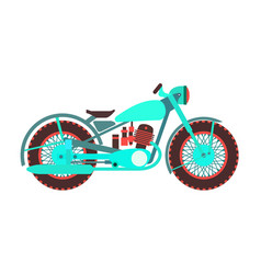 Retro motorcycle logo design template vector