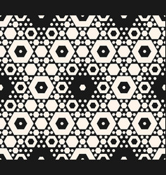 seamless pattern with different sized hexagons vector image vector image
