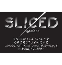 Sliced font set vector