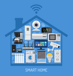 Smart home and internet of things concept vector
