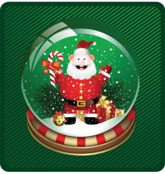 snow globe with santa vector image vector image