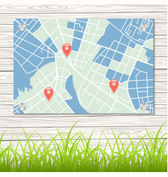 Street map vector image vector image