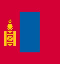 the flag of mongolia flat style vector image