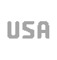 usa text from dots vector image