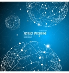 Abstract Background with Sphere Space vector image