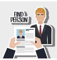 Find person man hand vector