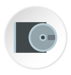 Cd rom and disk icon flat style vector
