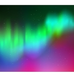 Northern lights vector