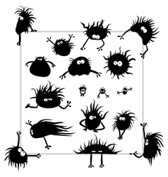 Microbes monsters vector