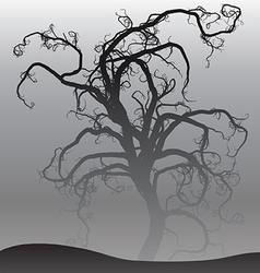 Scary tree in fog vector