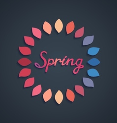 Creative spring card design vector