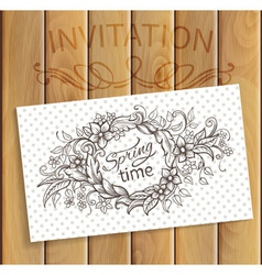 Invitation card vector