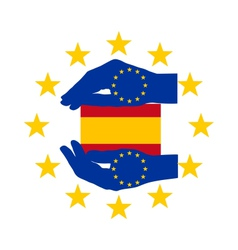 European help for spain vector