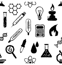 Doodle seamless laboratory pattern vector