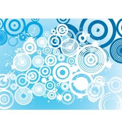 grunge circle background vector image