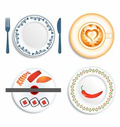 meal time vector image