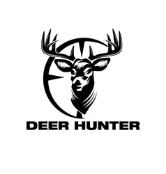 Deer head in target vector