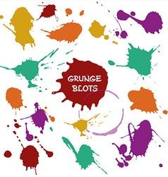 blots color vector image