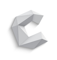 3d letter c on white vector