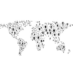Global network mesh earth map vector