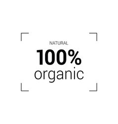 Natural organic icon vector