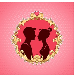 Frame barocco couple vector