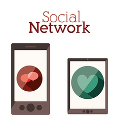 Social network design vector