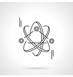 Atom model flat line icon vector