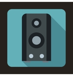 Black sound speaker icon in flat style vector