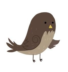 Cartoon sparrow flat icon vector image