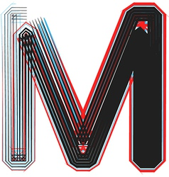 abstract font letter m vector image