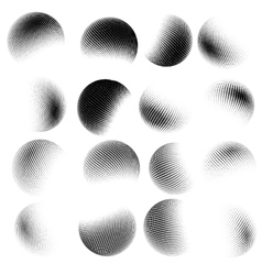 Abstract halftone circle design EPS 10 vector image vector image