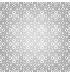 abstract pattern with snowflakes vector image