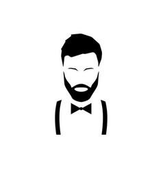 avatar hipster with a beard vector image vector image