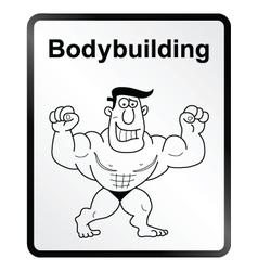Bodybuilder Information Sign vector image vector image