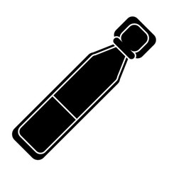 Bottle vials medical healthy pictogram vector