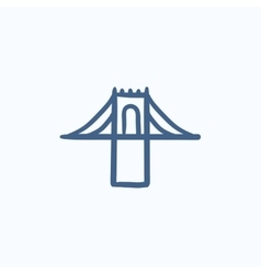 Bridge sketch icon vector image