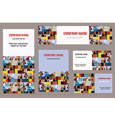 Business cards set with city or town vector image vector image