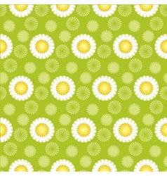 daisy green seamless pattern vector image vector image