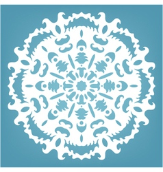 decorative snowflake Christmas lace ornament vector image