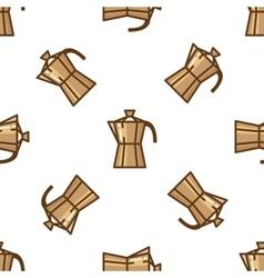 Geyser coffee maker pattern vector