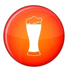 Glass of beer icon flat style vector