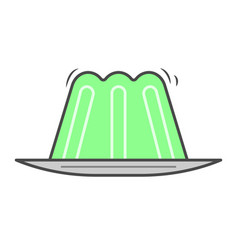 green jelly isolated icon vector image vector image
