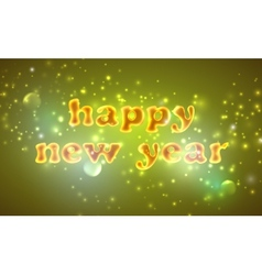 Happy new year holiday background with golden text vector
