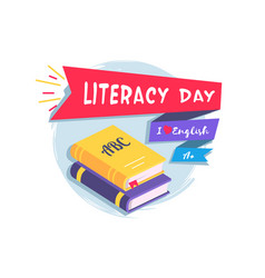 literacy day colorful vector image