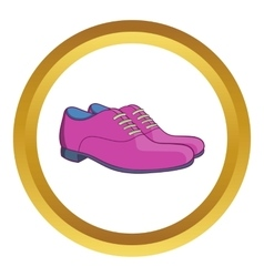Mens classic shoes icon vector