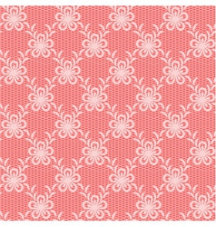 Pink floral lacy background vector image vector image